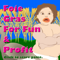Splash screen for Flash game, Foie Gras for Fun and Profit.